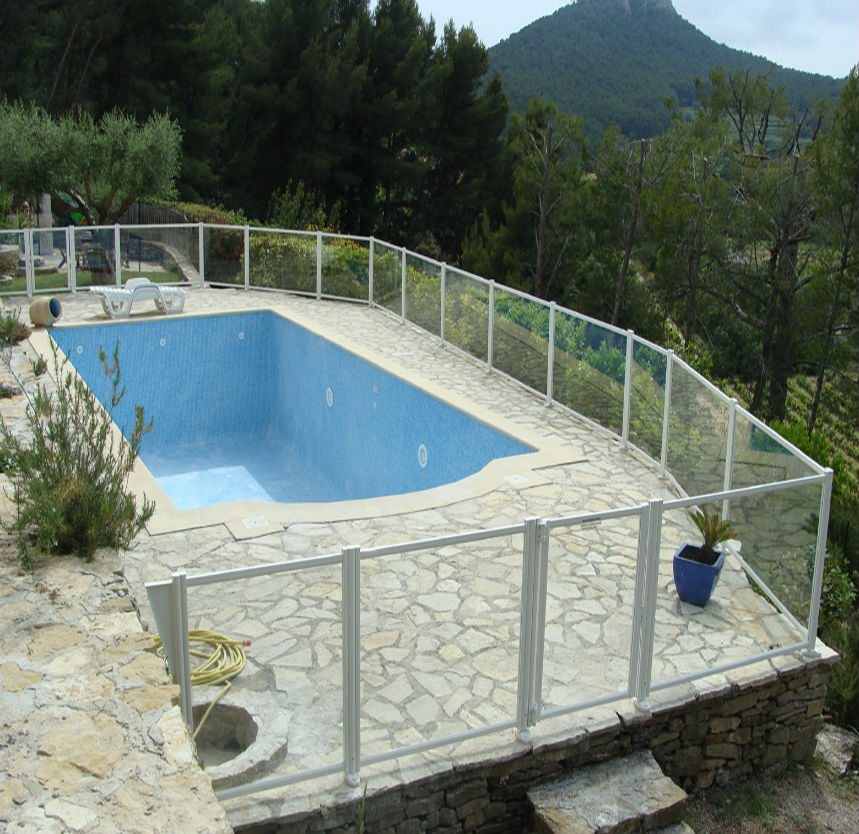 Cl ture piscine for Cloture piscine verre
